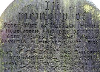 Gravestone, in memory of...