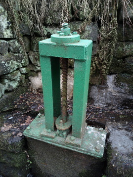 Water valve that is about 80 years old